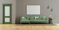 Elegant living room with green sofa - PhotoDune Item for Sale