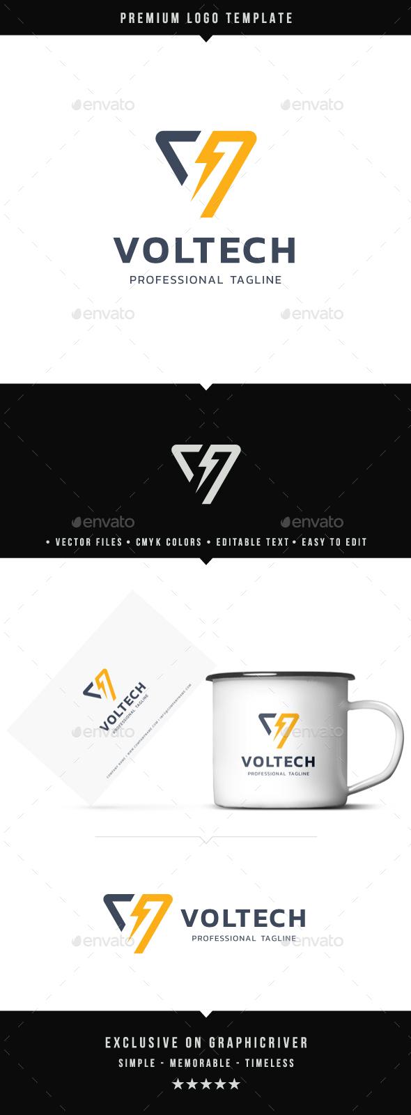 Volt Tech Logo - Symbols Logo Templates