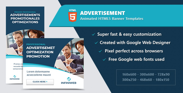 HTML5 Animated Web Banners - Multipurpose / Business            Nulled