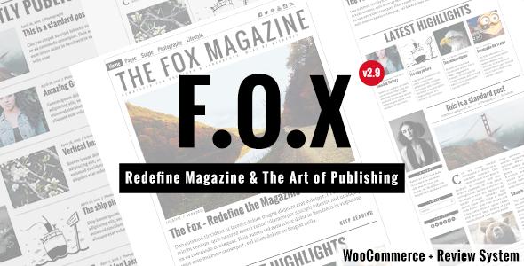 The Fox - Modern Magazine WordPress Theme - Personal Blog / Magazine