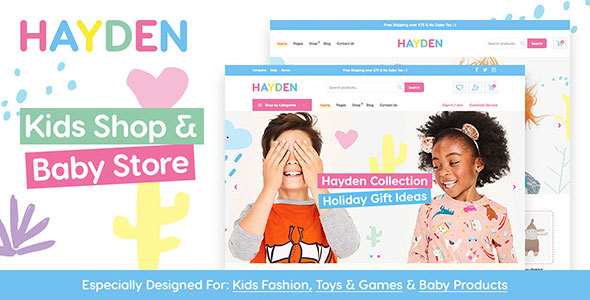 Hayden - Kids Store WooCommerce Theme