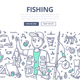 Fishing Doodle Concept - GraphicRiver Item for Sale