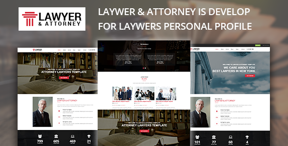 Excellent Lawyer & Attorney - Lawyers HTML Template