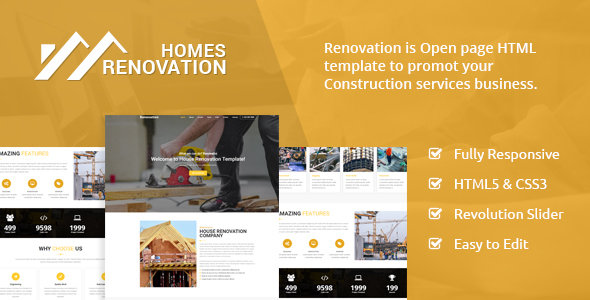 Homes Renovation - Landing Page - Business Corporate