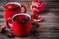 Spiced Pomegranate Apple Cider Mulled Wine Sangria - PhotoDune Item for Sale