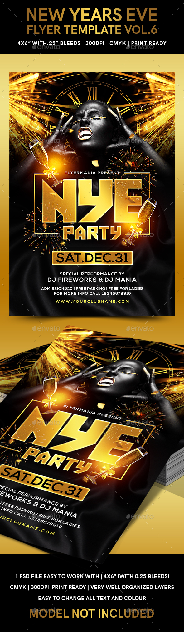 New Years Eve Flyer Template Vol.6