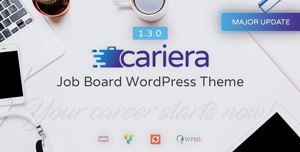 Cariera - Job Board WordPress Theme - Directory & Listings Corporate