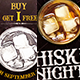 Free Download Whiskey Party Flyer Bundle Nulled