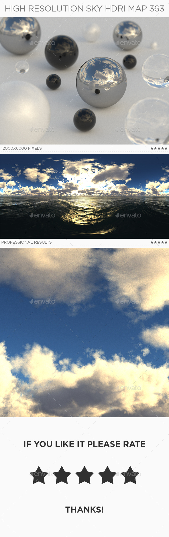 High Resolution Sky HDRi Map 363 - 3DOcean Item for Sale