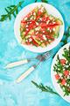 Fresh summer watermelon salad with feta cheese and arugula - PhotoDune Item for Sale