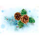 Pine Cone and Holly - GraphicRiver Item for Sale