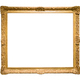 Golden decorative picture frame isolated on white - PhotoDune Item for Sale