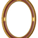 Oval golden decorative picture frame - PhotoDune Item for Sale