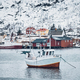 Free Download Ship in Hamnoy fishing village on Lofoten Islands, Norway Nulled