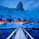 Free Download Reine village at night. Lofoten islands, Norway Nulled