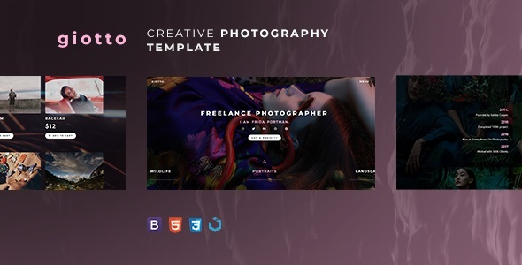 Photography Giotto — Animated Photography Template for Photography - Photography Creative