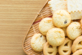Butter cookies in bamboo bowl-4 - PhotoDune Item for Sale