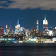 Night Landscape River Reflection New York City Skyline Empire St - PhotoDune Item for Sale