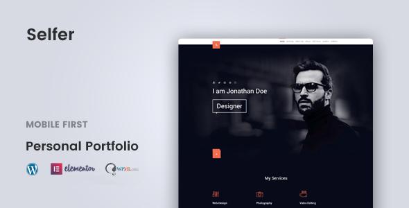 Selfer – Minimal Personal Portfolio WordPress Theme