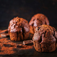 Chocolate muffin on dark background. - PhotoDune Item for Sale