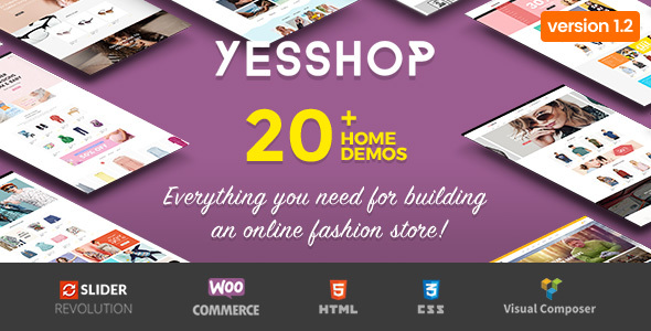 Yesshop - Responsive Multipurpose WordPress WooCommerce Theme - WooCommerce eCommerce