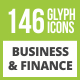 146 Business & Finance Glyph Inverted Icons - GraphicRiver Item for Sale