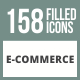 158 E-Commerce Filled Round Corner Icons - GraphicRiver Item for Sale