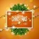 Merry Christmas Illustration on Orange Background - GraphicRiver Item for Sale