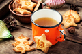 Christmas tea with cookie - PhotoDune Item for Sale