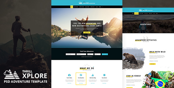 Xplore - Adventure and Travel PSD Template