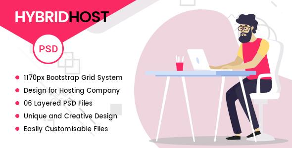 Hybrid Host - WebHosting PSD Templates - Hosting Technology