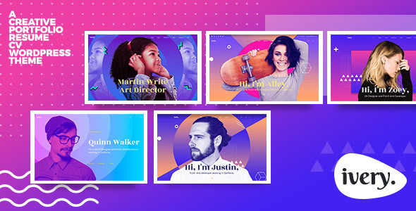 Ivery - Creative Portfolio & CV WordPress Theme - Portfolio Creative