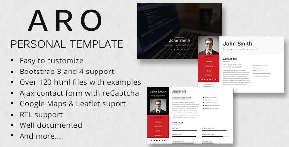 ARO - Responsive Personal Portfolio Template