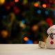 Snowman on a Christmas tree background  - PhotoDune Item for Sale