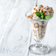 Vanilla-chocolate ice cream in a sundae glass - PhotoDune Item for Sale