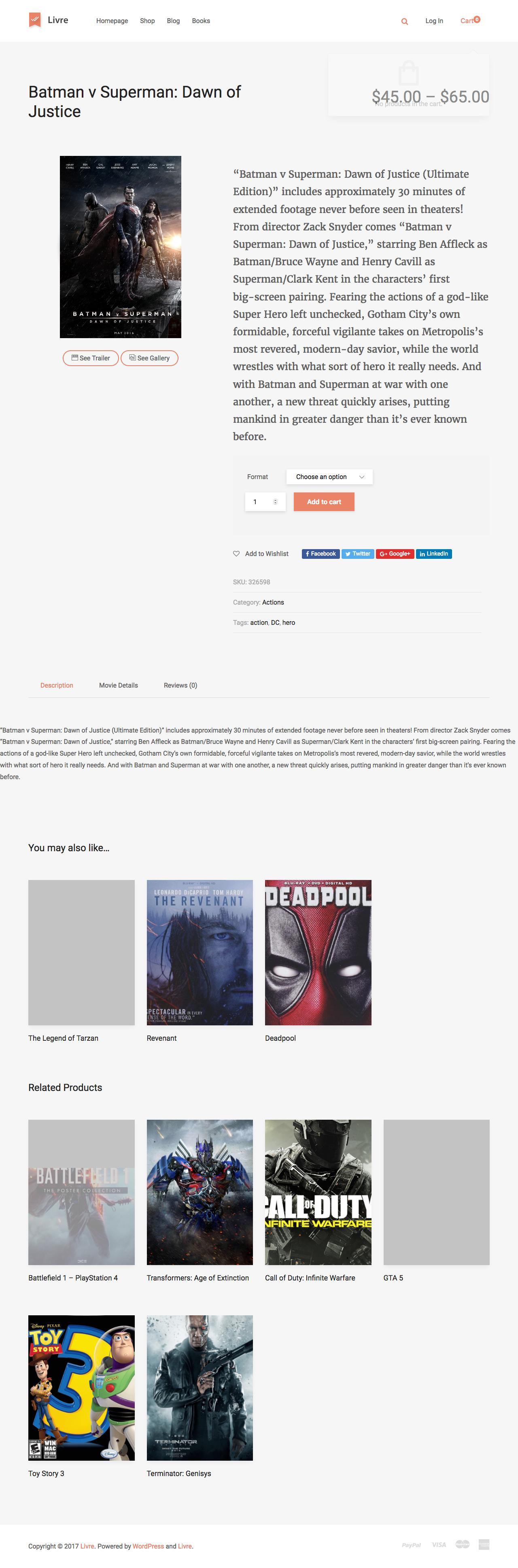 Livre Woo merce Theme For Book Store by tokomoo