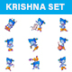 God Krishna Stickers - GraphicRiver Item for Sale