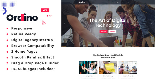 Ordino - Digital Marketing WordPress Theme - Portfolio Creative