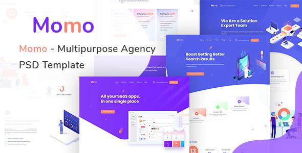 Momo - Multipurpose Agency PSD Template - Creative PSD Templates