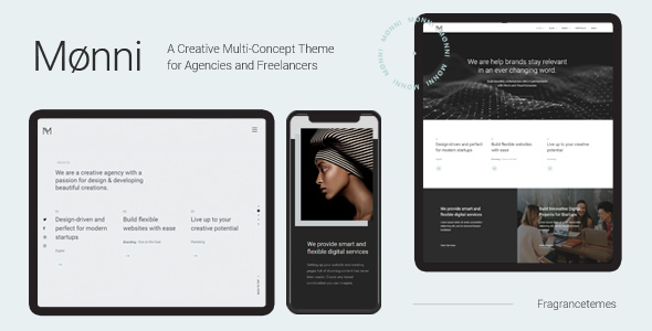 Monni - A Creative Multi-Concept Theme for Agencies and Freelancers