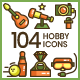 Hobby Icons - GraphicRiver Item for Sale