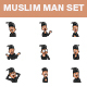 Muslim Man Stickers - GraphicRiver Item for Sale
