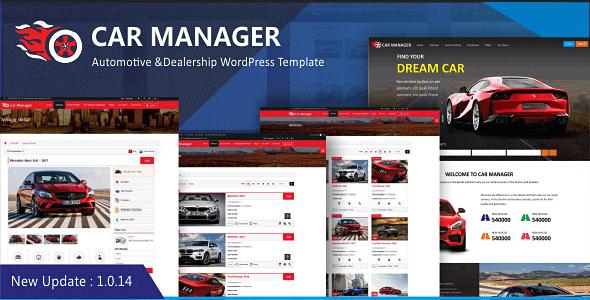 Car Manager - Car Dealership Business WordPress Theme - Business Corporate