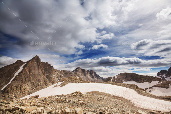 Wind river range - Stock Photo - Images