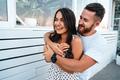 Handsome bearded man hugging his beautiful girl - PhotoDune Item for Sale