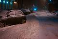 Snow-covered night street - PhotoDune Item for Sale