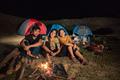 group of friends having fun camping - PhotoDune Item for Sale