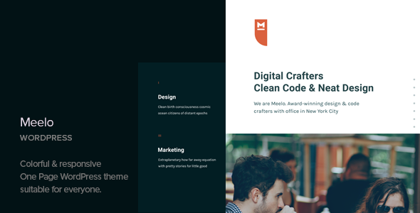 Meelo - Corporate One Page WordPress Theme - Business Corporate