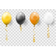 Golden Streamer and Balloons - GraphicRiver Item for Sale