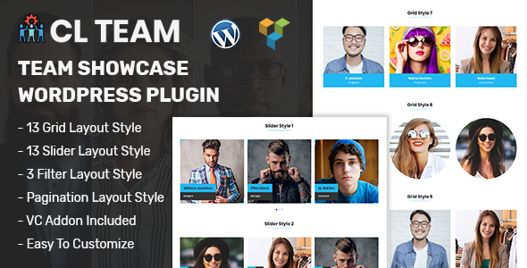CL Team - Team Showcase WordPress Plugin - CodeCanyon Item for Sale
